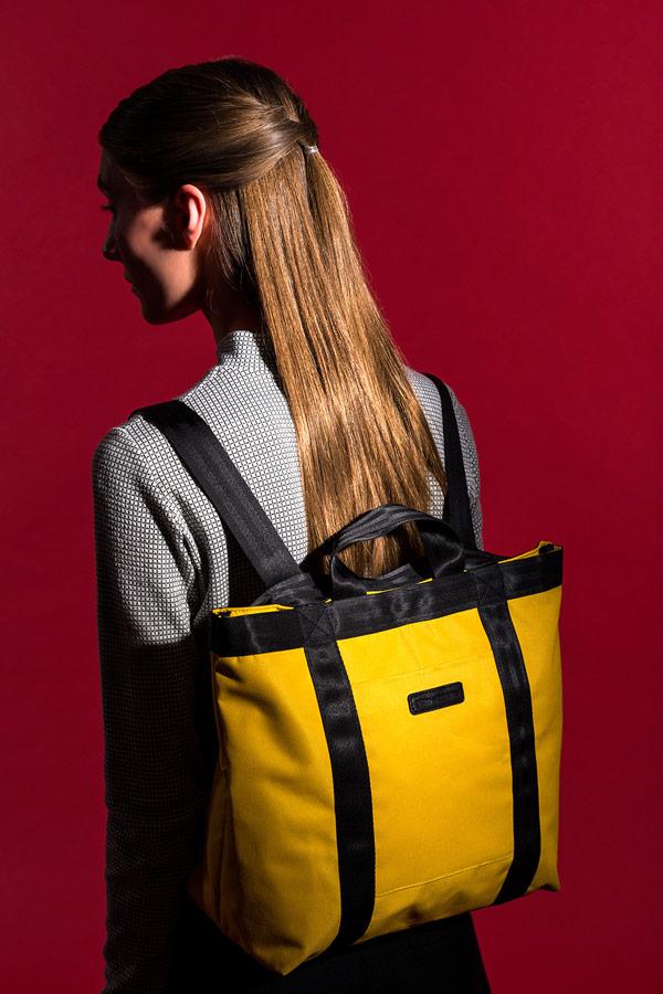 Ucon Acrobatics — žlutá taška — Tilda Bag — nepromokavá — waterproof, vegan, sustainable, urban — jaro/léto 2018