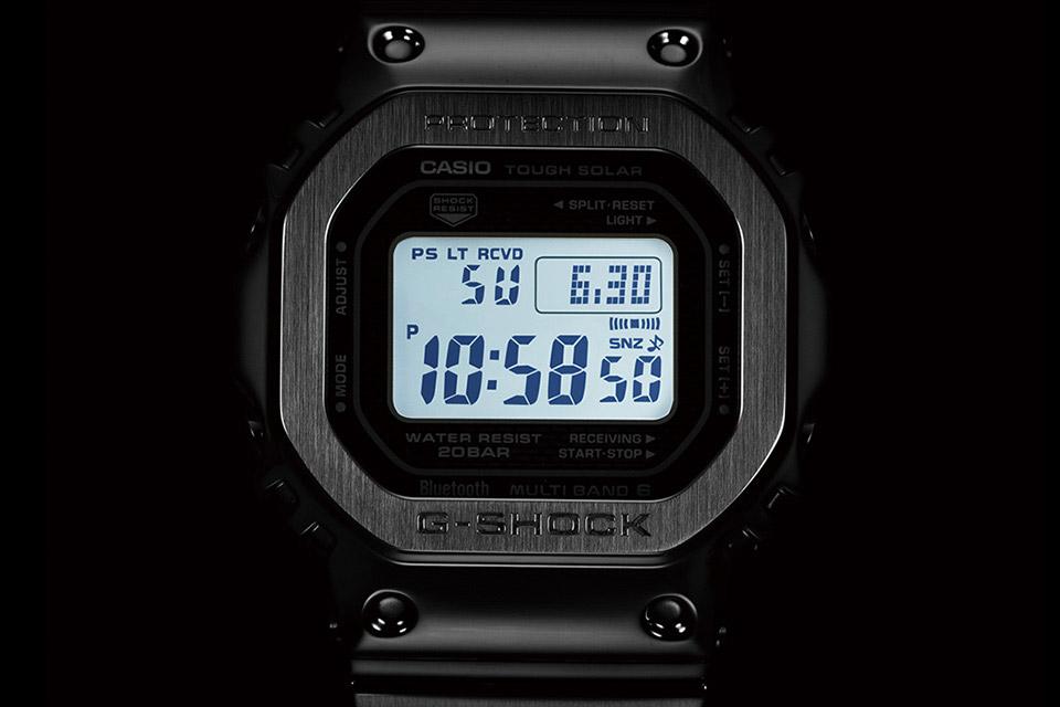 Casio G-shock — GMW-B5000 — podsvícení