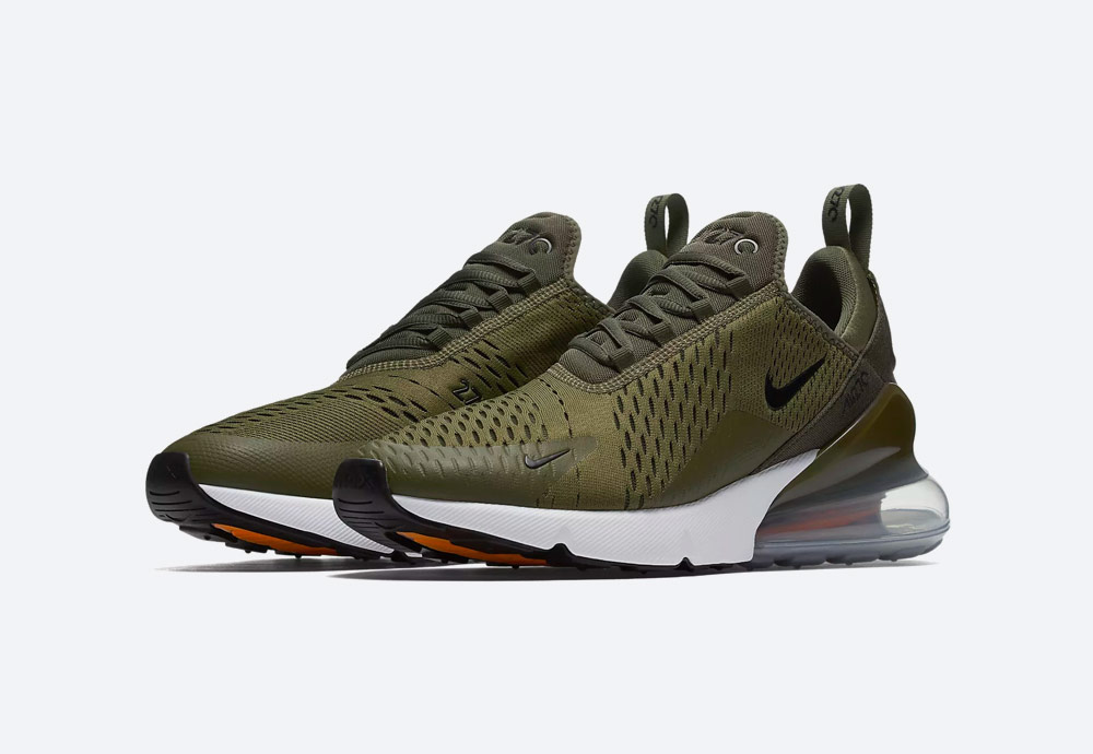 Nike Air Max 270 — boty — tenisky — pánské — Airmaxy — zelené, olivové — men's sneakers — olive green, army