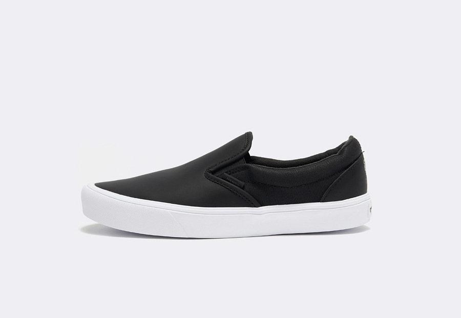 Vans x Rains — Slip-On Lite — tenisky bez tkaniček — černé — pánské — dámské — boty — black sneakers, shoes