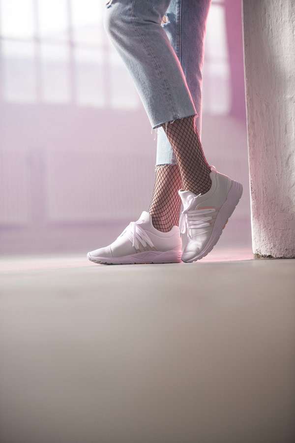 ARKK Copenhagen — Raven Mesh — boty — tenisky — bílé, růžové — pánské, dámské — womens sneakers — white peach