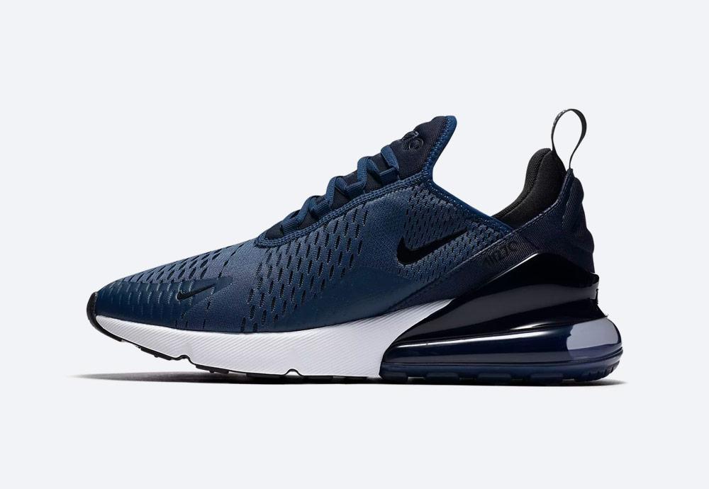 Nike Air Max 270 — boty — tenisky — pánské — Airmaxy — tmavě modré — men's sneakers — blue
