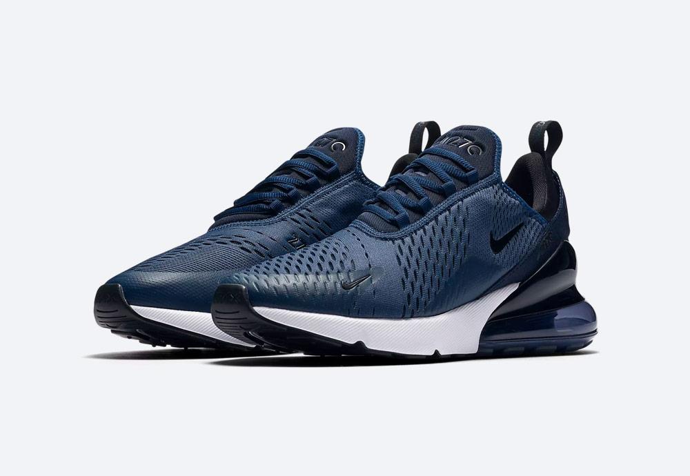 Nike Air Max 270 — tenisky — boty — pánské — Airmaxy — tmavě modré — men's sneakers — blue