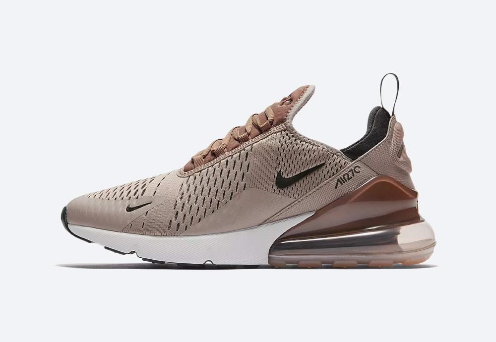 Nike Air Max 270 — tenisky — boty — pánské — Airmaxy — hnědé, krémové — men's sneakers — brown, dark cream