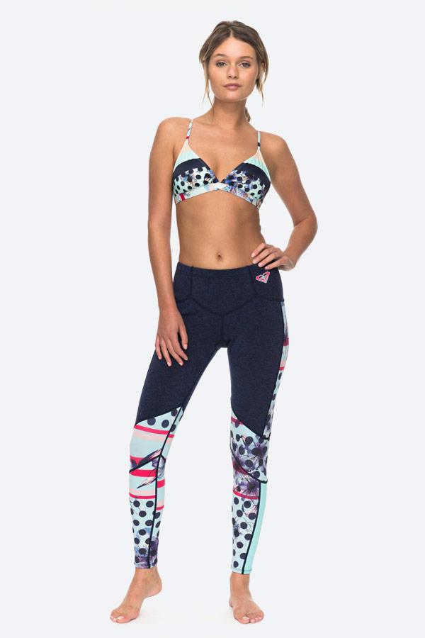 Roxy — Pop Surf — dámské modré plavecké legíny — dámské modré bikiny, podprsenka — swimwear