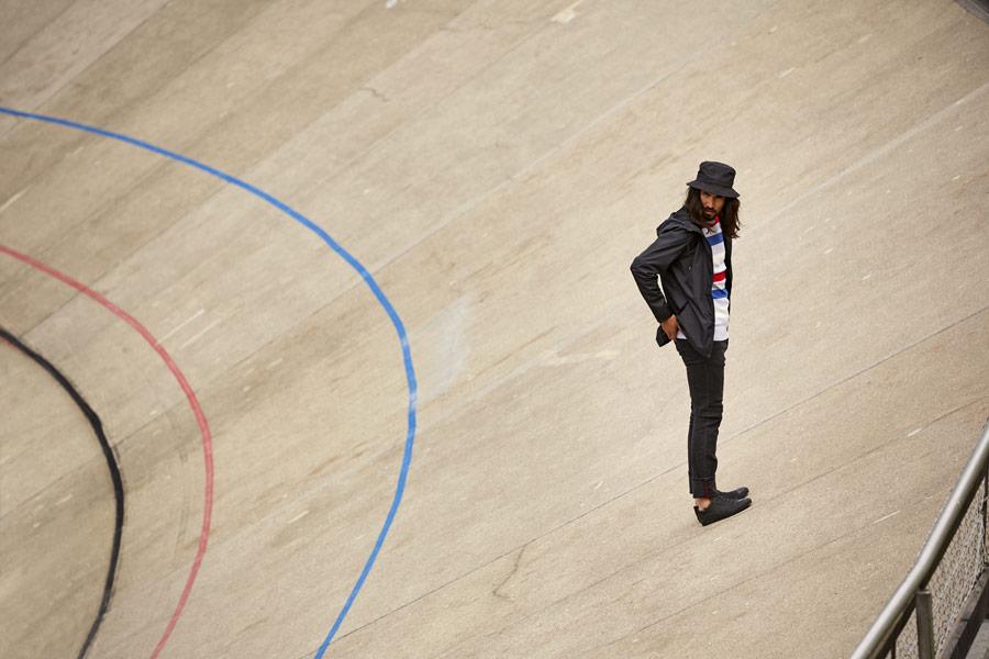 RVLT — jarní bunda s kapucí — černá — pánská — jarní/letní oblečení — pánská móda — Revolution