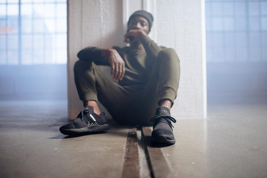 ARKK Copenhagen — Raven Mesh — boty — tenisky — černé — pánské, dámské — mens and womens sneakers — black