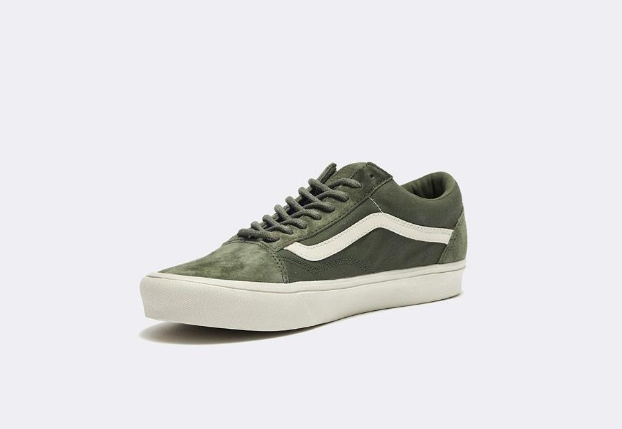 Vans x Rains — Old Skool Lite — tenisky — olivově zelené — dámské — pánské — boty — green olive sneakers, shoes