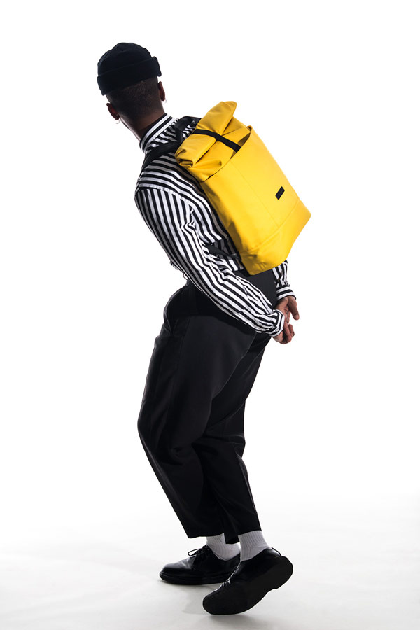 Ucon Acrobatics — voděodolné batohy — Hajo Backpack — žlutý — waterproof, vegan, sustainable, urban — jaro/léto 2018
