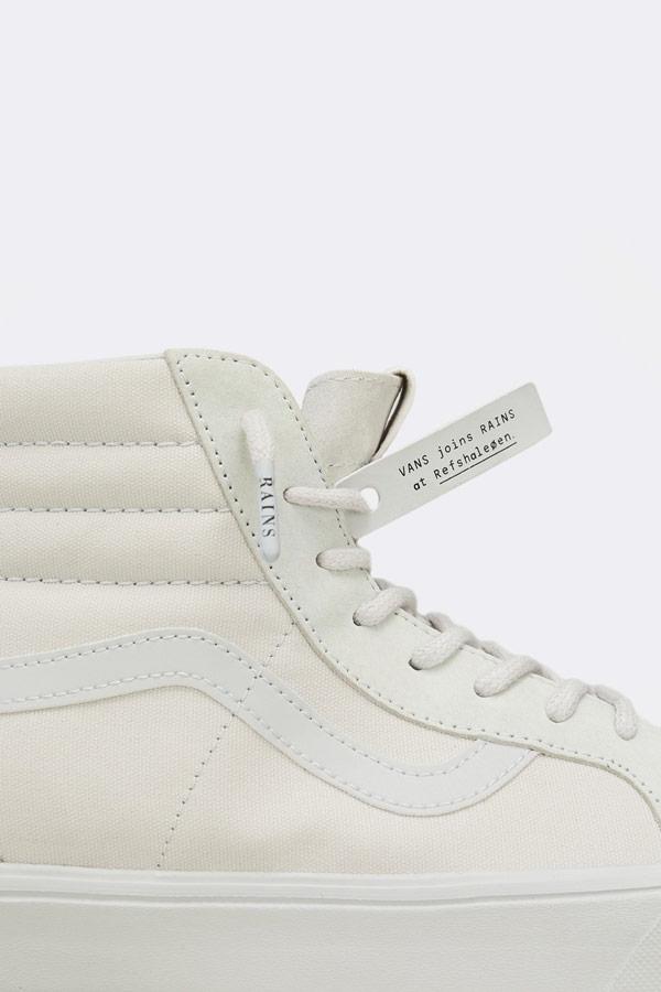 Vans x Rains — Sk8-Hi Lite — kotníkové boty — bílé — pánské — dámské — tenisky — white sneakers