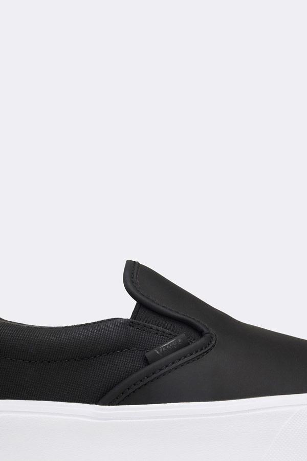 Vans x Rains — Slip-On Lite — tenisky bez tkaniček — černé — pánské — dámské — boty — white sneakers