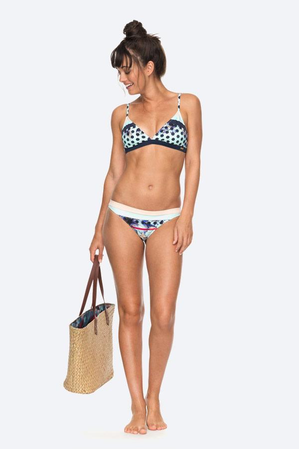 Roxy — Pop Surf — dámské dvoudílné plavky s květinovým vzorem — bikiny — modré — swimwear