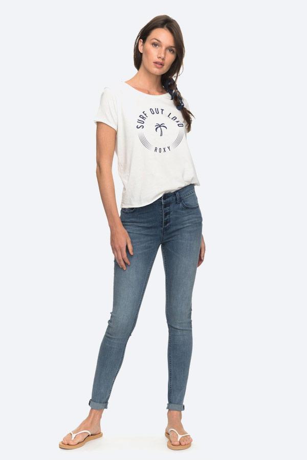 Roxy — Pop Surf — bílé tričko — dámské
