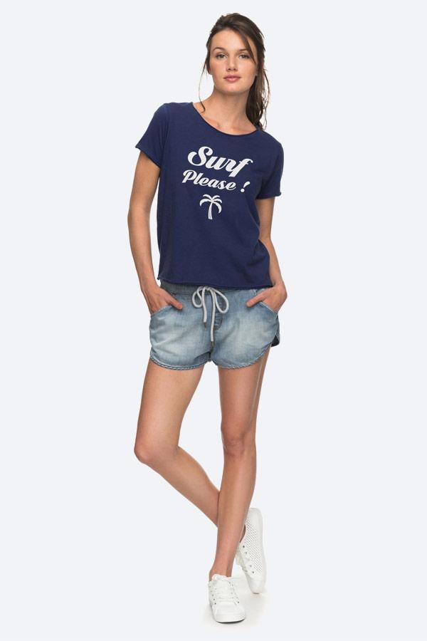 Roxy — Pop Surf — modré tričko — dámské