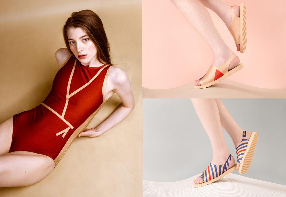 PLOVE — dámské plavky — dámské sandály