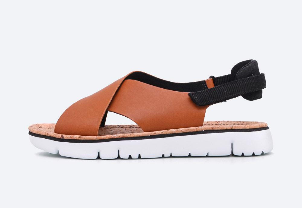 Camper — Oruga — sandály — dámské — letní — hnědé — kožené