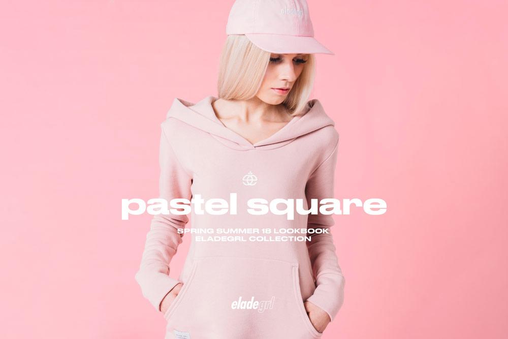 Elade Grl — dámská mikina s kapucí — růžová — streetwear fashion