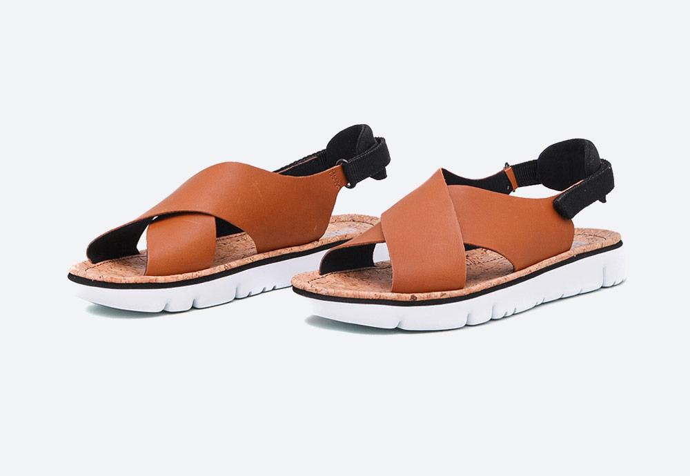 Camper — Oruga — dámské sandály — letní — hnědé — kožené