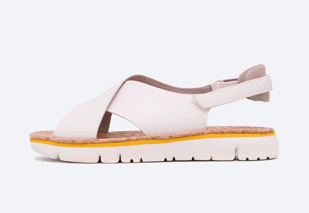 Camper — Oruga — sandály — dámské — letní — krémové — kožené