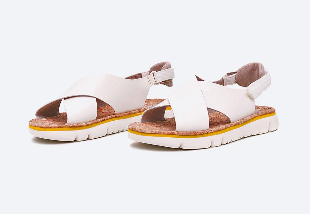 Camper — Oruga — dámské sandály — letní — krémové — kožené