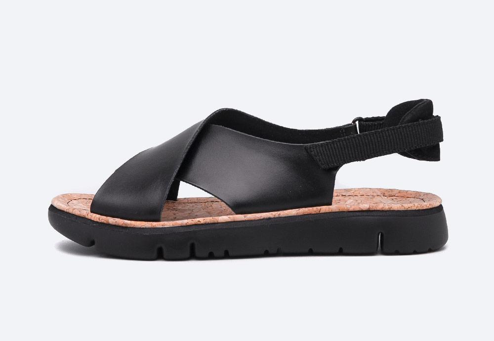 Camper — Oruga — sandály — dámské — letní — černé — kožené