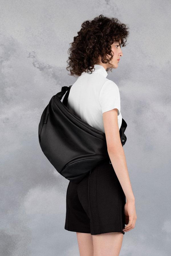 Côte&Ciel — batoh/messenger — Oder-Spree — černý — luxusní — sustainable