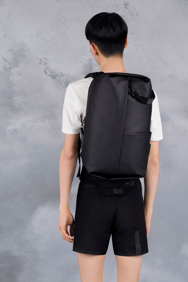Côte&Ciel — černý batoh — Sormonne — luxusní — sustainable