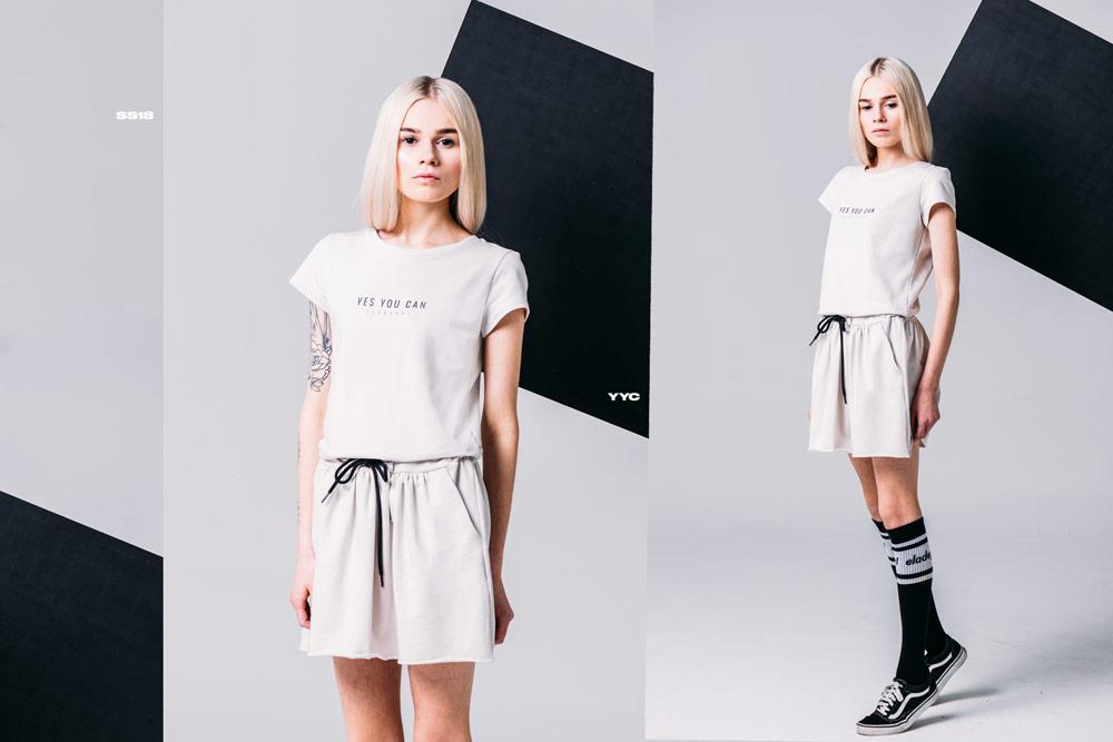 Elade Grl — dámské letní šaty — vanilkově bílé — streetwear fashion