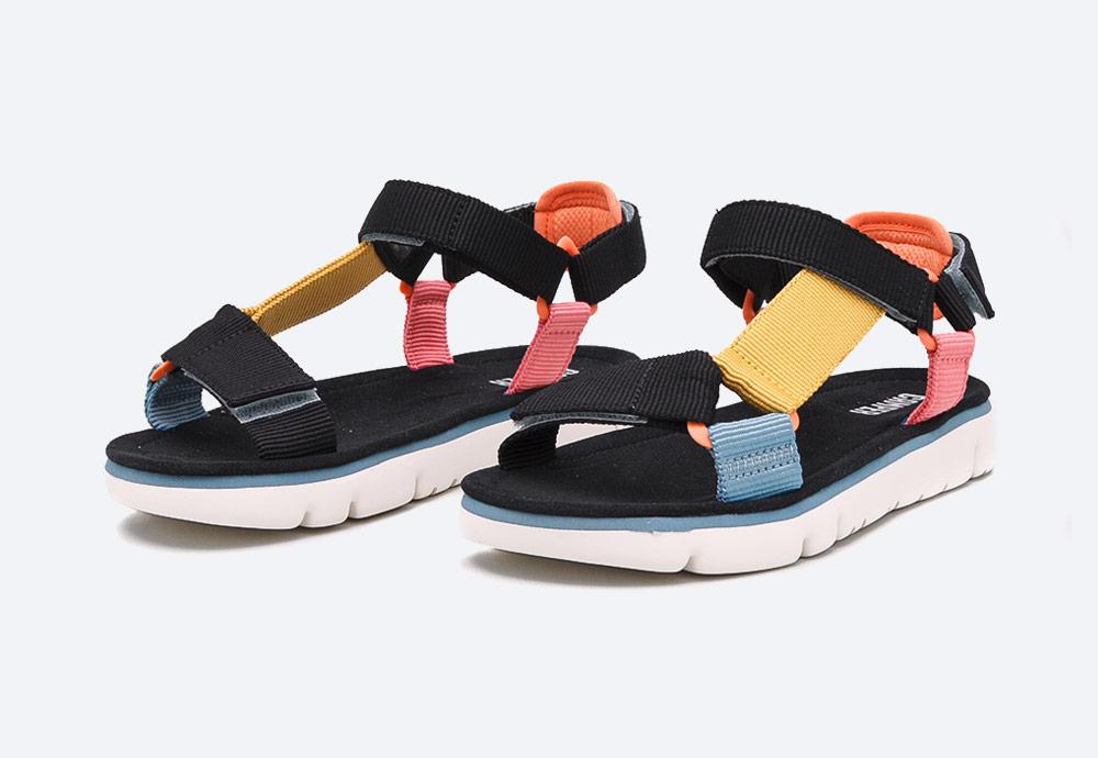 Camper — Oruga — dámské sandály — letní — barevné — textilní