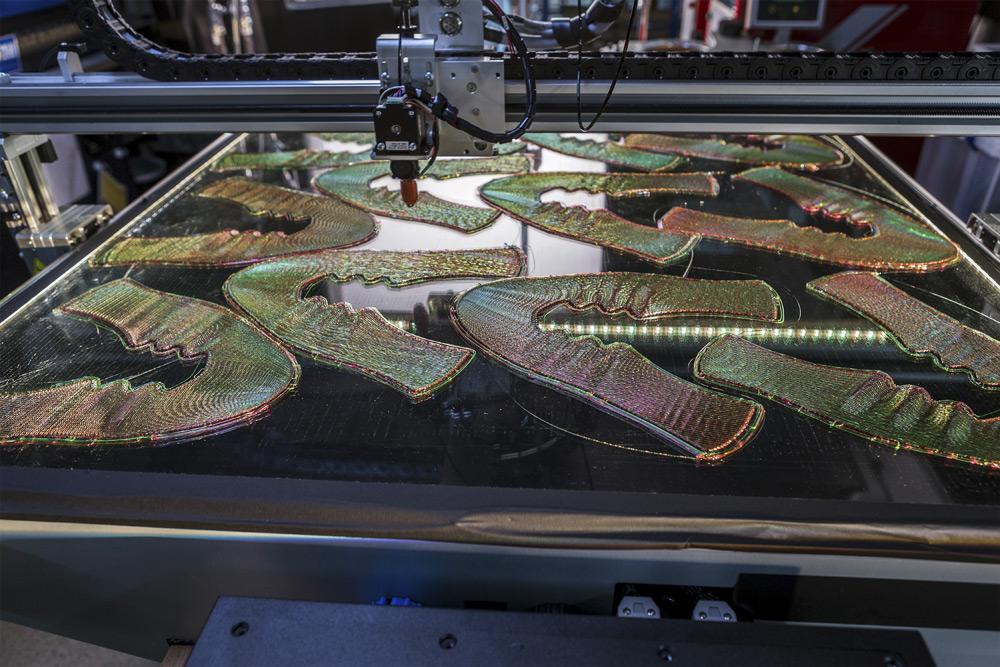 Nike Zoom Vaporfly 4% Flyprint — svrchní materiál — 3D tisk