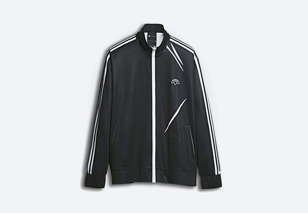 adidas Originals by Alexander Wang — sportovní bunda na zip bez kapuce — černá — pánská, dámská