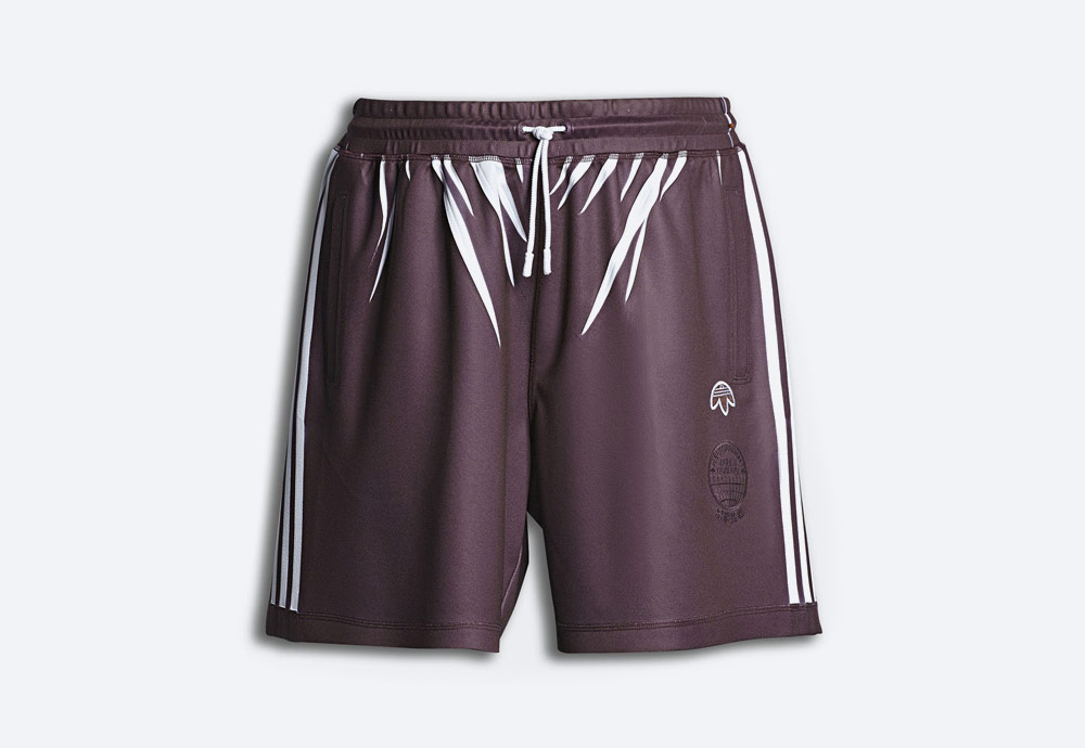 adidas Originals by Alexander Wang — sportovní šortky — fialové — pánské, dámské