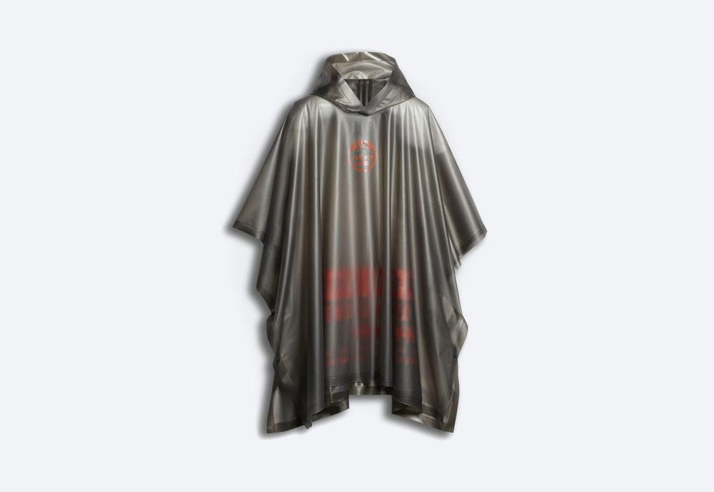 adidas Originals by Alexander Wang — průhledná šedá pláštěnka — dámská, pánská