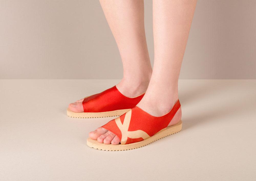 PLOVE — dámské sandály — červené — sandálky