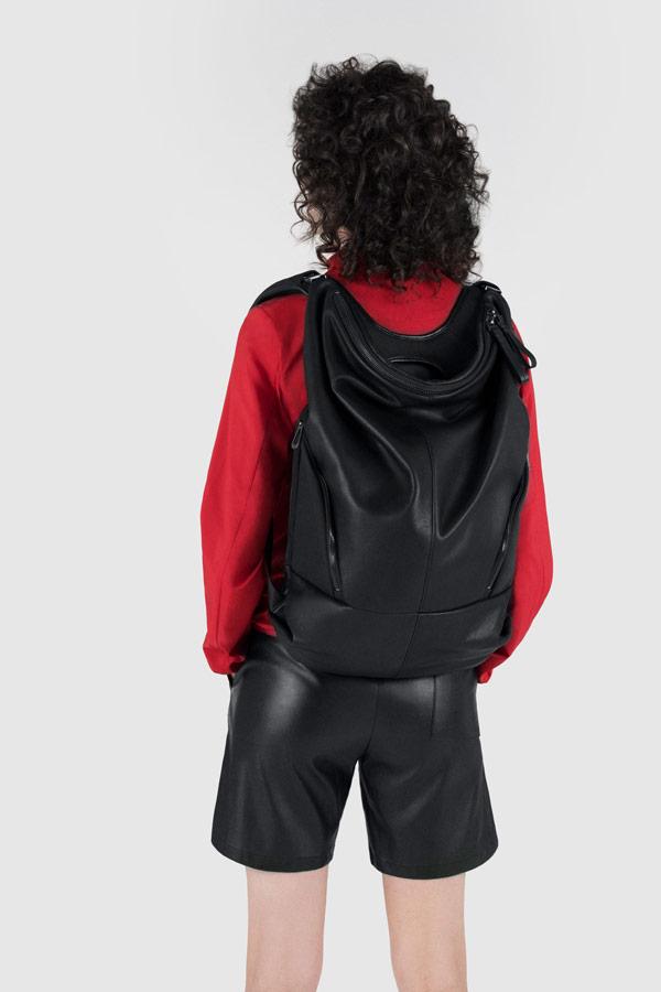 Côte&Ciel — černý batoh — Timsah — luxusní — sustainable