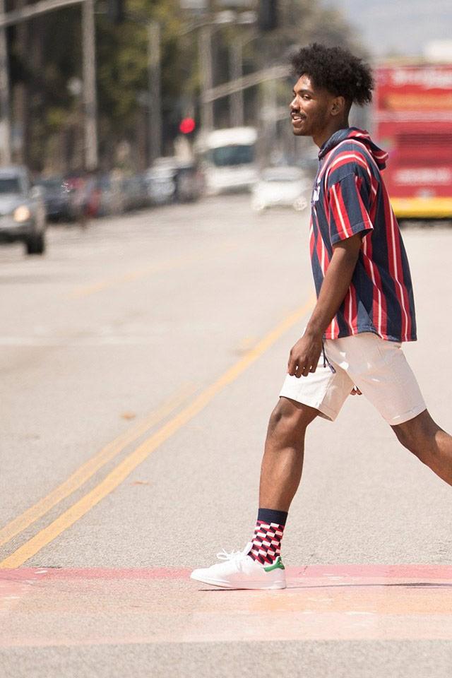 Happy Socks — barevné ponožky — vysoké — bavlněné — pánské, dámské — lookbook jaro/léto 2018