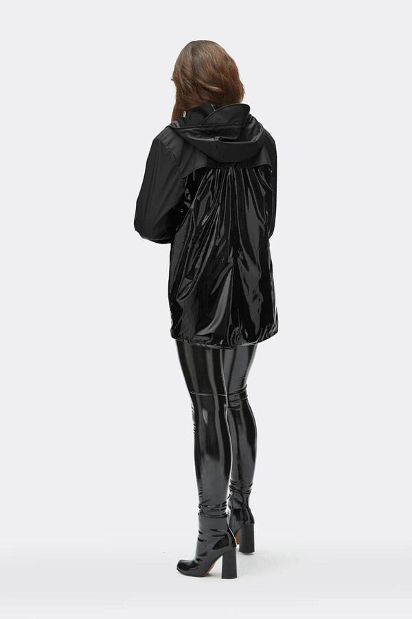 Rains — dámská nepromokavá bunda s kapucí — černá — dámský pršiplášť — womens rain jacket, raincoat — Expressions
