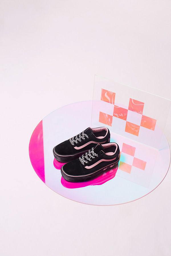 Vans x Lazy Oaf — černé boty Old Skool Platform — dámské