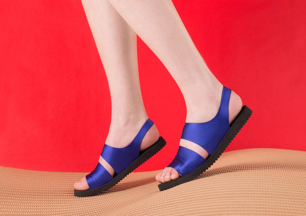 PLOVE — dámské sandály — modré — sandálky
