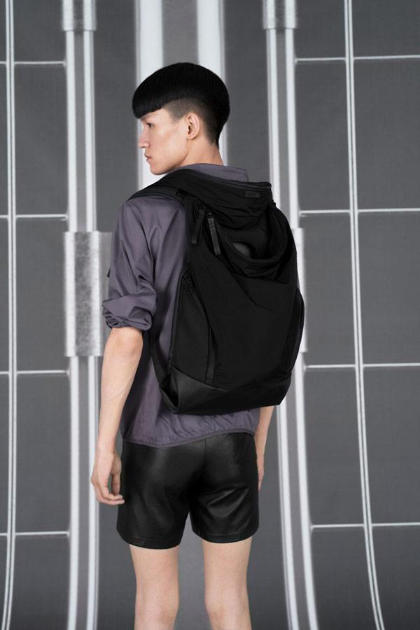 Côte&Ciel — batoh — Timsah — černý — luxusní — sustainable