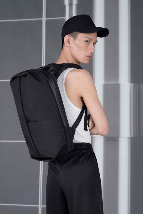 Côte&Ciel — batoh — Sormonne — černý — luxusní — sustainable