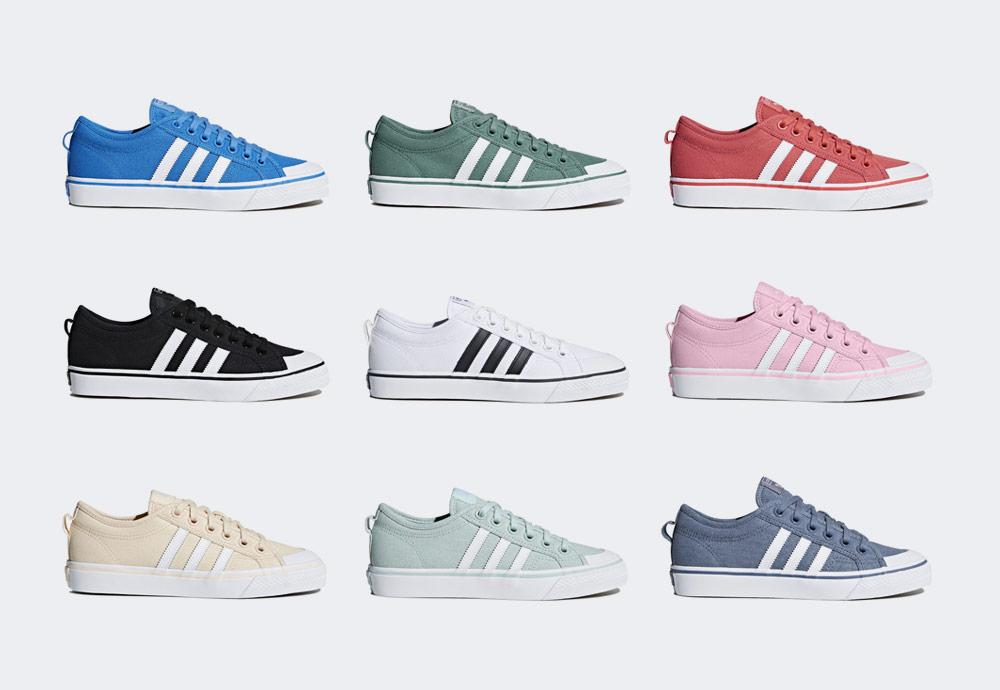adidas Originals Nizza — plátěné tenisky v letních barvách