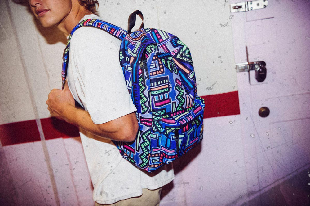 Herschel Supply x Hoffman — barevný batoh se vzorem — Winlaw Backpack
