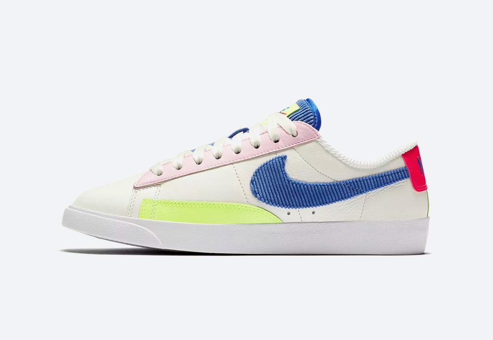 Nike Blazer Low — dámské boty — tenisky — bílé — barevné detaily — sneakers — Summer Pack 2018