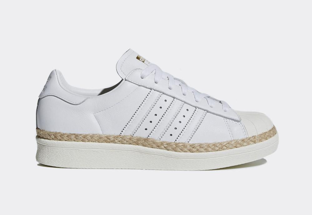 adidas Originals Superstar 80s New Bold — boty — dámské — tenisky — na platformě — bílé — womens white sneakers on platform