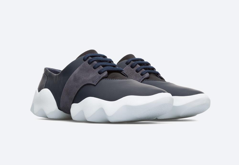 Camper Dub — dámské tenisky — futuristicke — minimalisticke — letní boty — bílé — sneakers