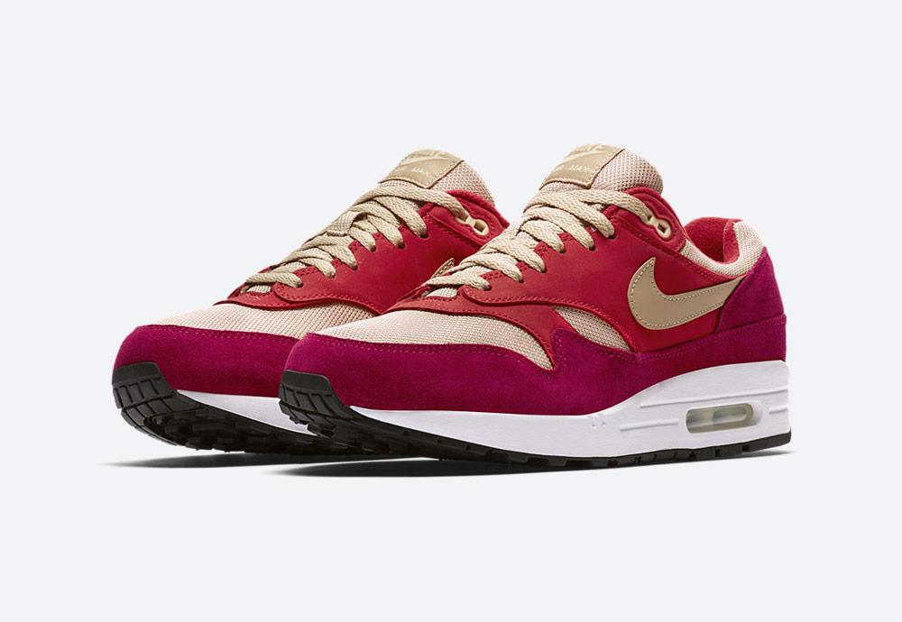 Nike Air Max 1 Premium Retro — Red Curry — boty — tenisky — červené — pánské, dámské — sneakers