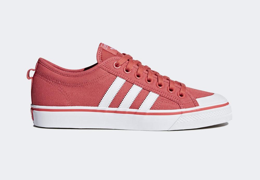 adidas Originals Nizza — plátěné tenisky — kecky — oranžové — pánské — boty — sneakers