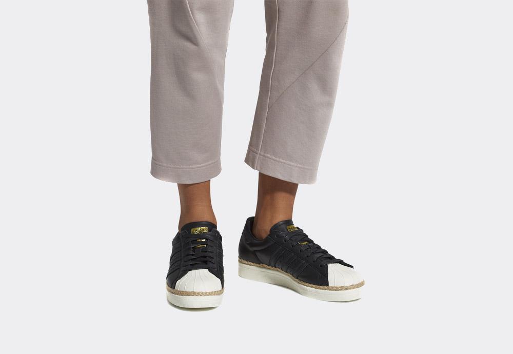 adidas Originals Superstar 80s New Bold — boty — dámské — tenisky — na platformě — černé — womens black sneakers on platform