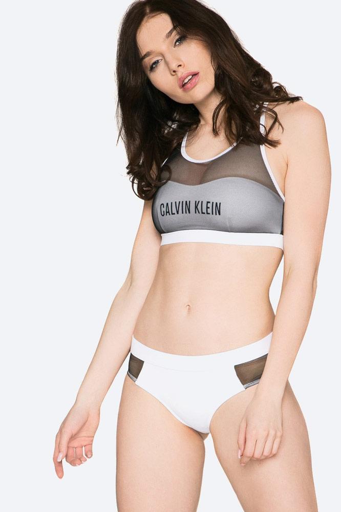 Calvin Klein — dámské plavky — dvoudílné — bikiny — sportovní — bílé — push up